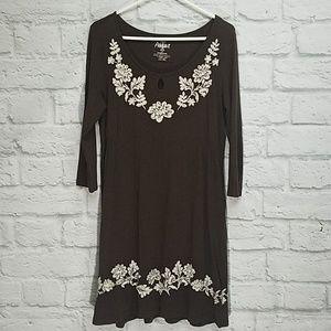 Ariat | Brown 3/4 Sleeve Dress